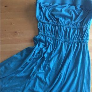 Cotton strapless dress